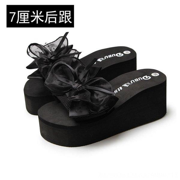 Black 7cm Heel