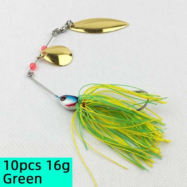 10pcs 16g Green