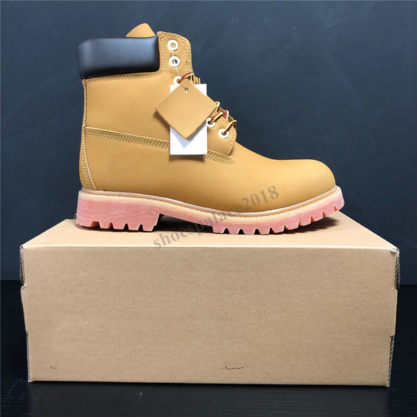 best selling Best Quality Men Women Classic Yellow Boots Waterproof Casual Martin Boot High Cut Snow Boots Hiking Sports Trainer Shoes Sneakers With Box