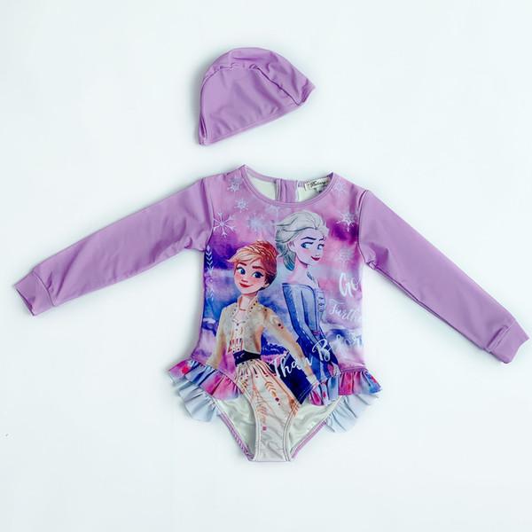 Princesa púrpura del traje de baño