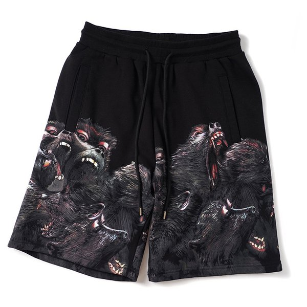 best selling Mens Shorts Stylish Mens Summer Fashion Beach Pants Mens Women Angry Monkey Print Loose Short Pants