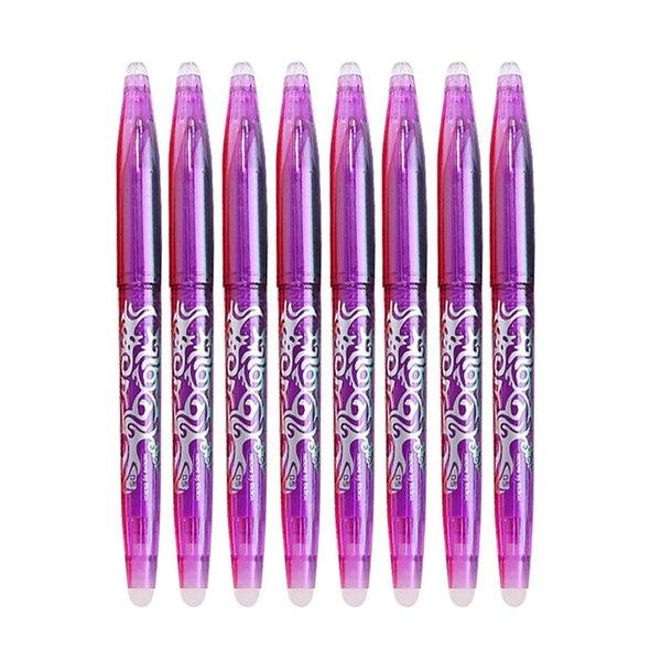 8pcs púrpura Conjunto pluma-