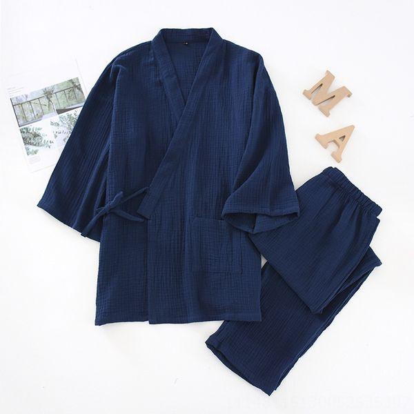 Traje sólido de color Crepe kimono para los hombres-cy