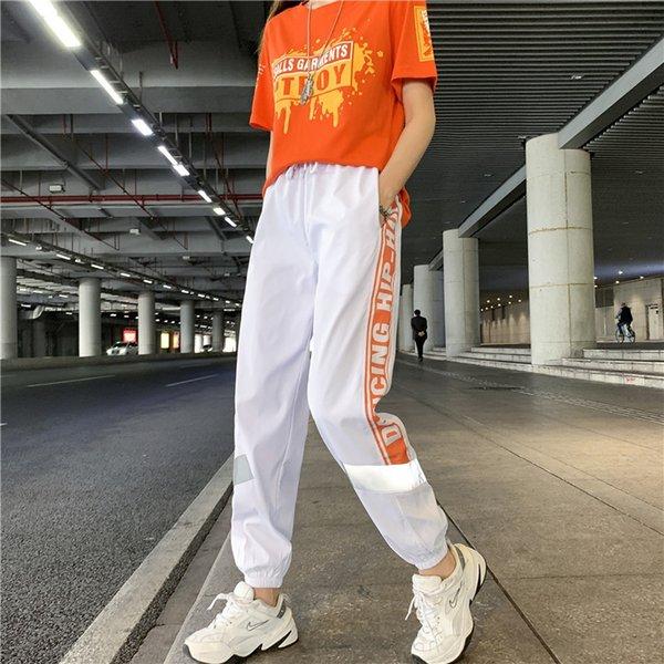 8820 Beyaz Turuncu Pantolon
