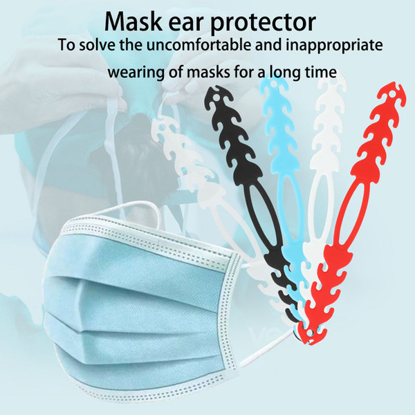 top popular Mask Extender Mask Lanyard Adjustable Hook Mask Ear Strap Hook,Anti-Slip Ear Pain Relieved from Wearing Long-Time 2021
