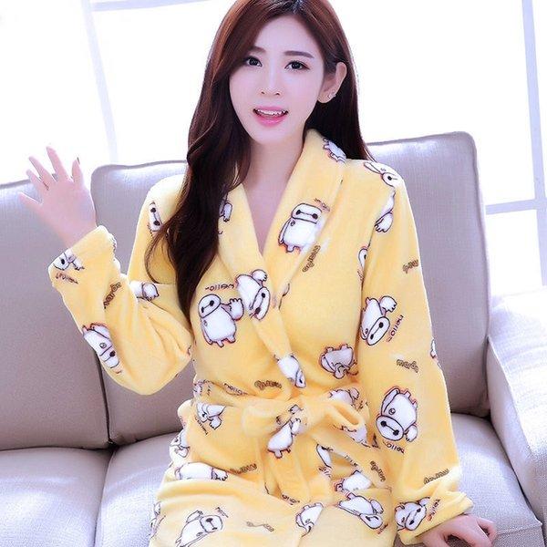 Желтый бело-женщин # 039; S Robe