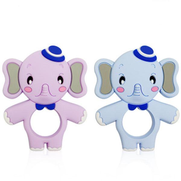 best selling Baby Silicone Teether BPA Free elephant teether toys silicone chews molar maternal and child toys wholesale