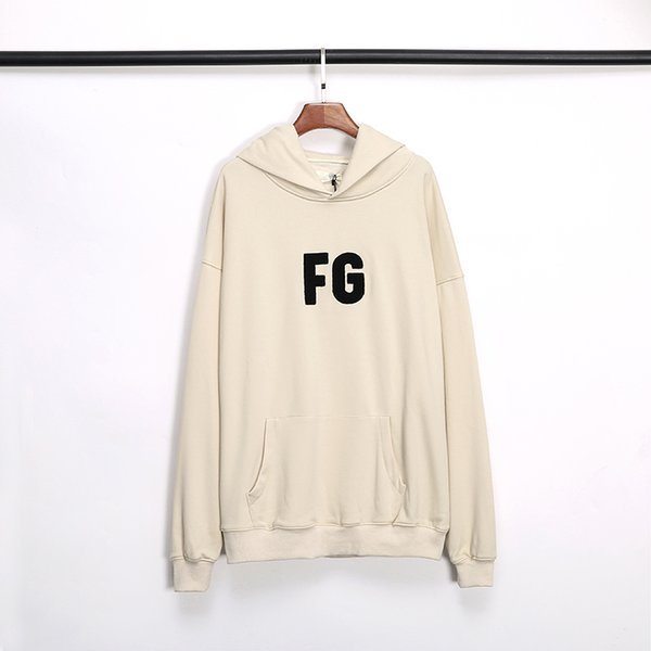 top popular 19SS FOG FEAR OF GOD ESSENTIALS Hoodie mens Pullover Sweatshirts Long Sleeve Shirt Winter clothing Printed 3M Reflective letter Sweater S-XL 2020