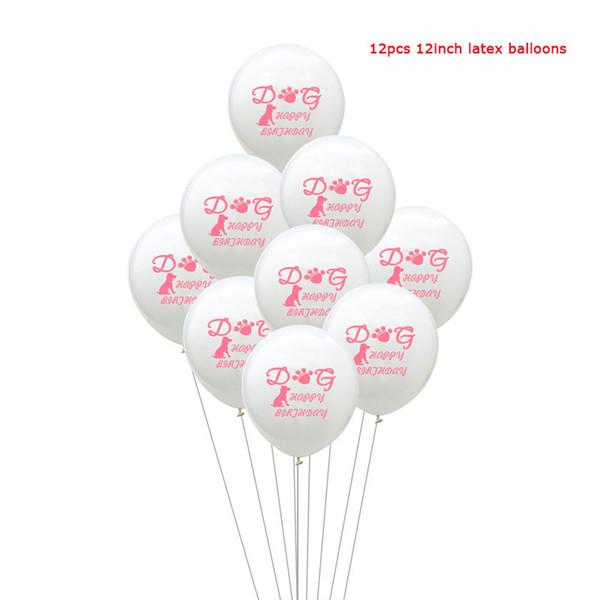 12 جهاز كمبيوتر شخصى البالونات الوردية