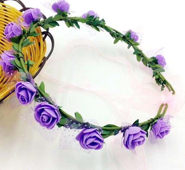 12 Flores púrpuras