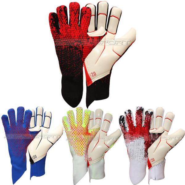 top popular Adult goalkeeper gloves soccer gloves football without fingersave Adulto luvas de goleiro Luvas de futebol Sem proteção de dedo full latex 2021