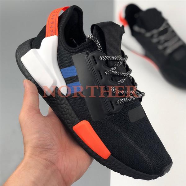 schwarz weiß blau orange