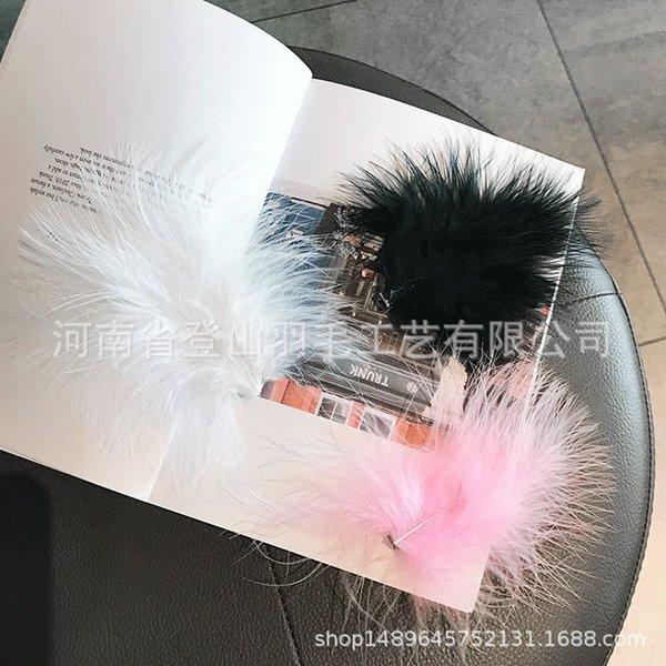 Rosa piuma accessori per capelli (singolo)