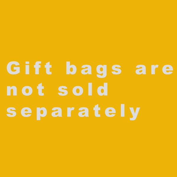 Gift bags are not sold separately