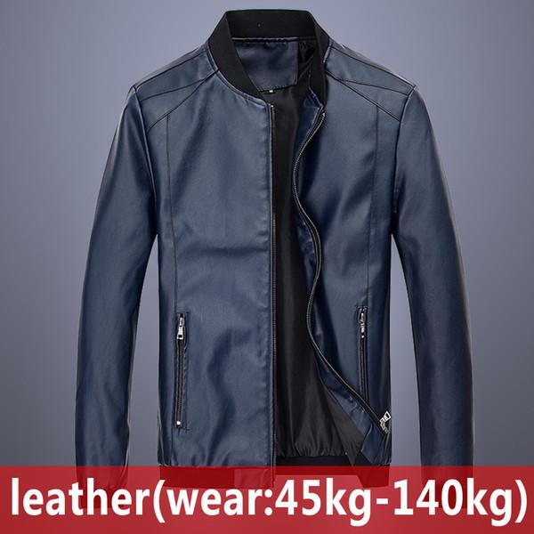 2020 new Men's Leather Coat Mens Clothing Black Jacket New Spring Autumn large size Clothes new Men's Leather Coat Mens Clothing