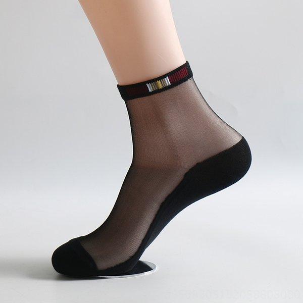 Noir + soie noire 5 paires (d)