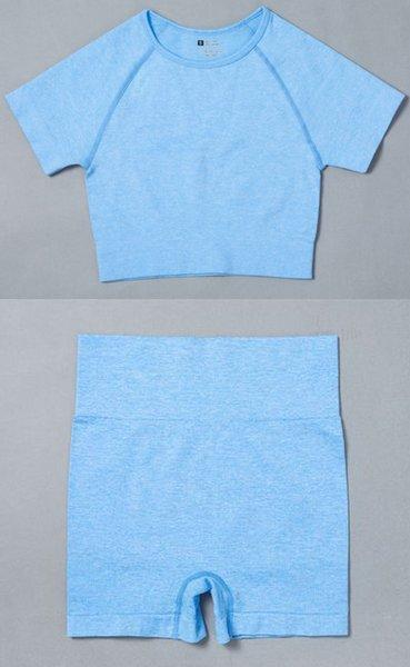 Blue Top Short