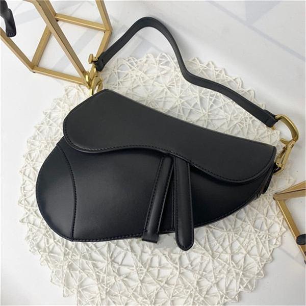 top popular Designer handbag Bag Genuine leather handbag with letters shoulder bag high quality genuine leather Saddle bag saddle Shoulder handbag 2020