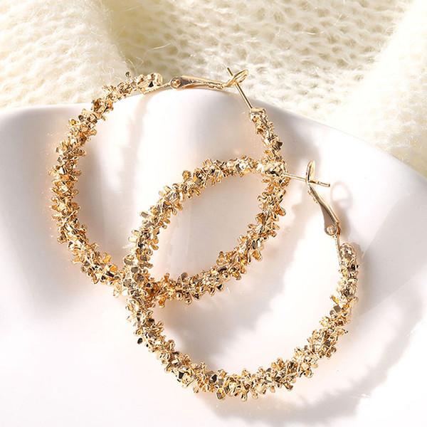 best selling Big Circle Round Hoop Earrings for Women Girls Statement Punk Charm Drop Earring Wedding Party Designer Earrings Jewelry Christmas Gift