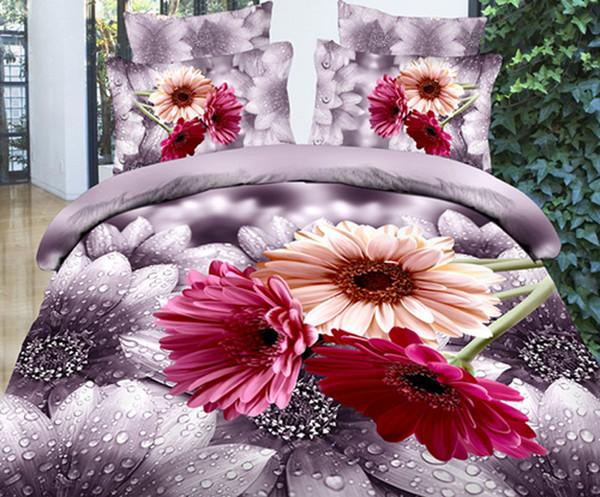 fashion classic 3D Bedding 4pcs Reactive Printing bedding set/ bedclothes/ duvet cover set/ bed sheet