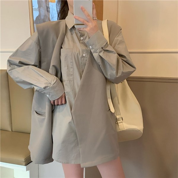 Gray Shirt Single Piece