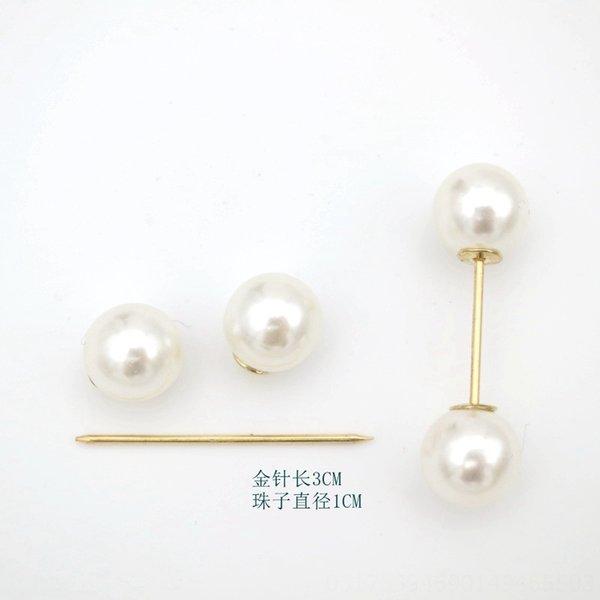 14 # Perla Oro Lunghezza di Pin 3 centimetri + due 10 millimetri