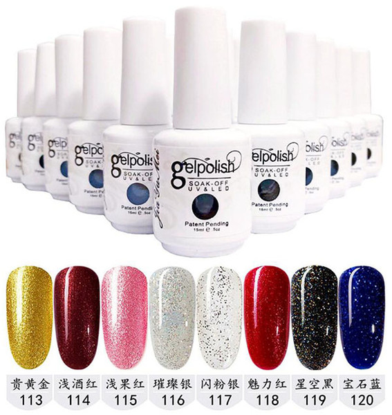 best selling Top Quality 159colors Soak Off Nail Gel Polish Nail Art Gel Lacquer Led uv Base Coat Foundation & Top coat