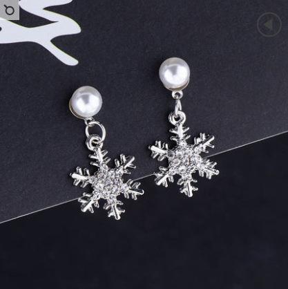 Aiguille d'Argent: Boucles d'oreilles perle blanche + Sn