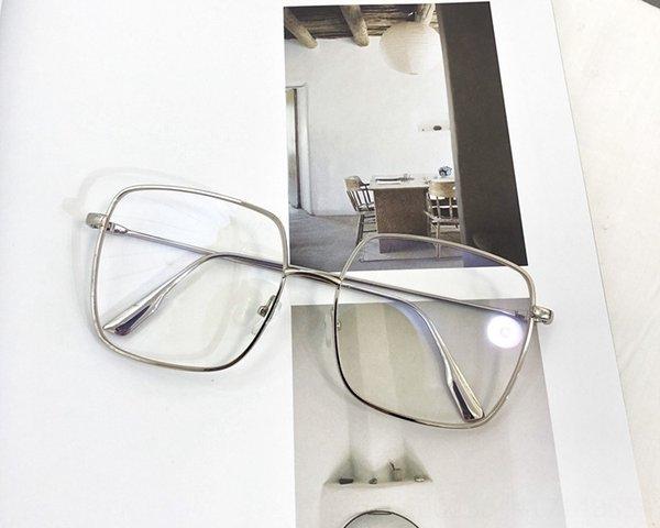 Silver Frame Anti-bleu clair