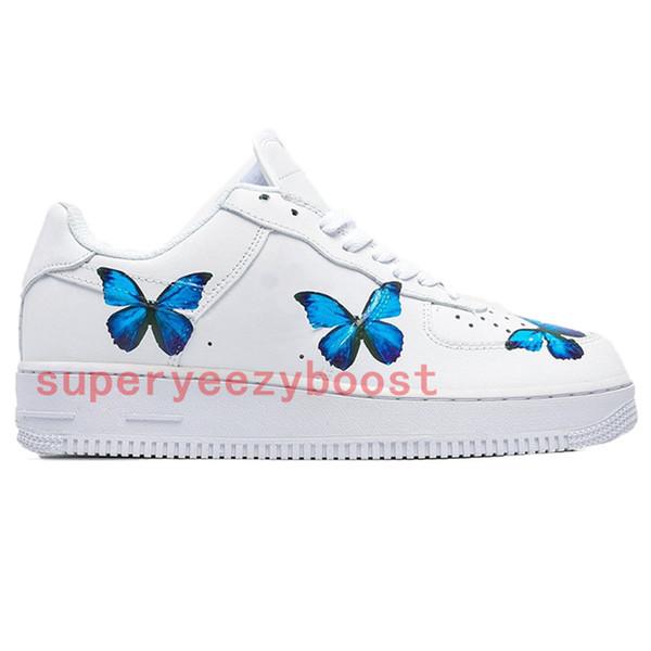 kelebek baskı mavi