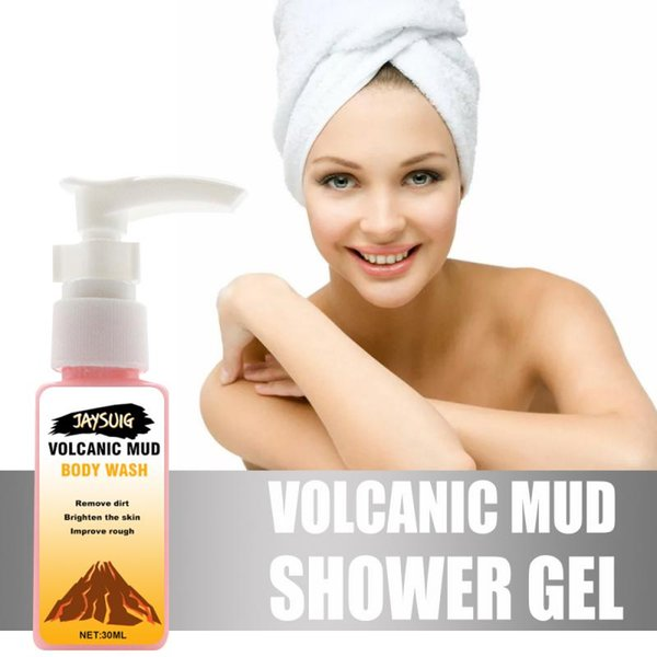 top popular 30ml Skin Moisturizing Nurtrition Exfoliating 2 Style Choose Volcanic Mud Whitening Deep Cleansing Body Wash Shower Gels TSLM1 2021