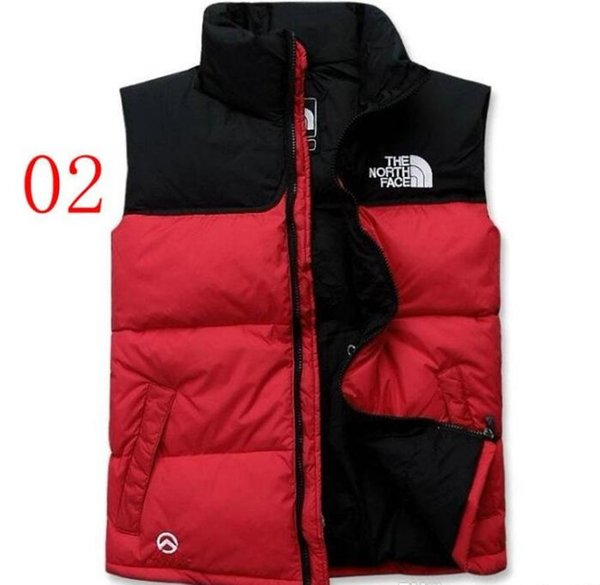 top popular Hot Classic men DOWN winter down jacket North Polartec vest Male Sports Hooded Jackets Bomber Collar With Zippers Outdoor face Coats 2020