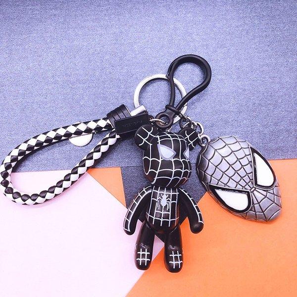 Black Spider-man + noir et blanc Leath