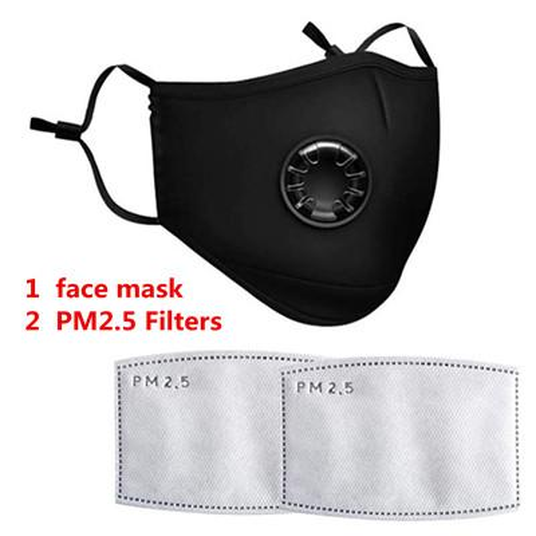 1pcs Mask with 2pcs Filters