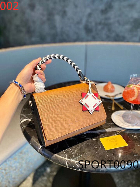 original style 20ss high-quality leather handbags twist medium twist lock woven portable single shoulder messenger messenger envelope bag