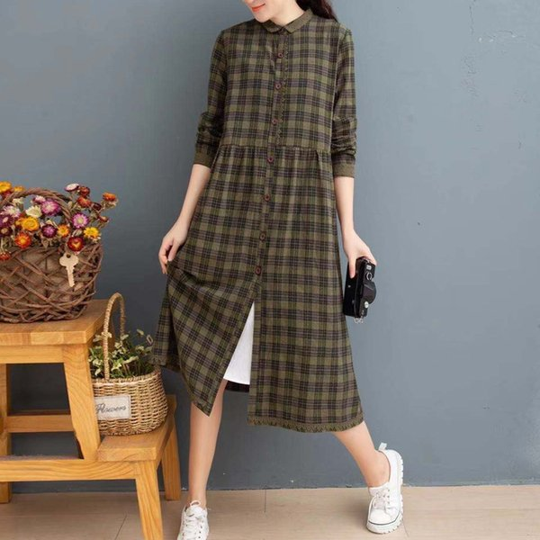 Dal collare verde Plaid Doll