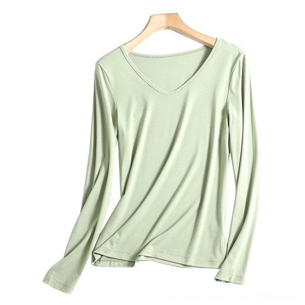 V-pescoço Hortelã Verde