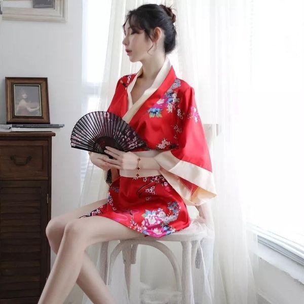 Red X22 Floral Kimono
