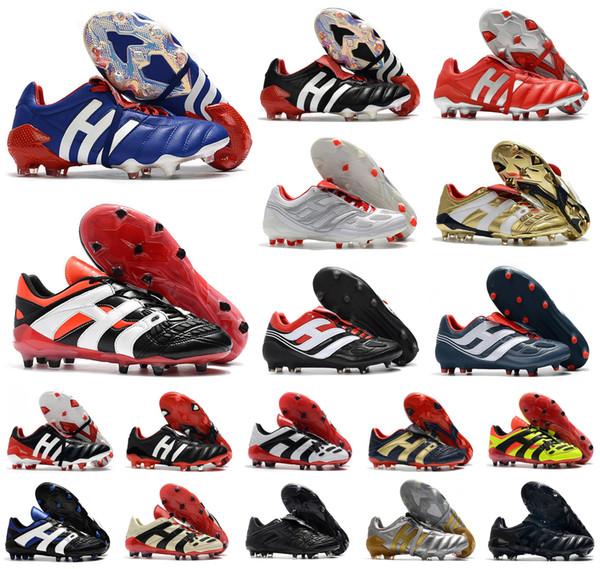 top popular Men Predator 20+ Mutator Mania Tormentor Accelerator Electricity Precision FG Beckham DB Zidane ZZ soccer shoes cleats football boots 6.5-11 2020