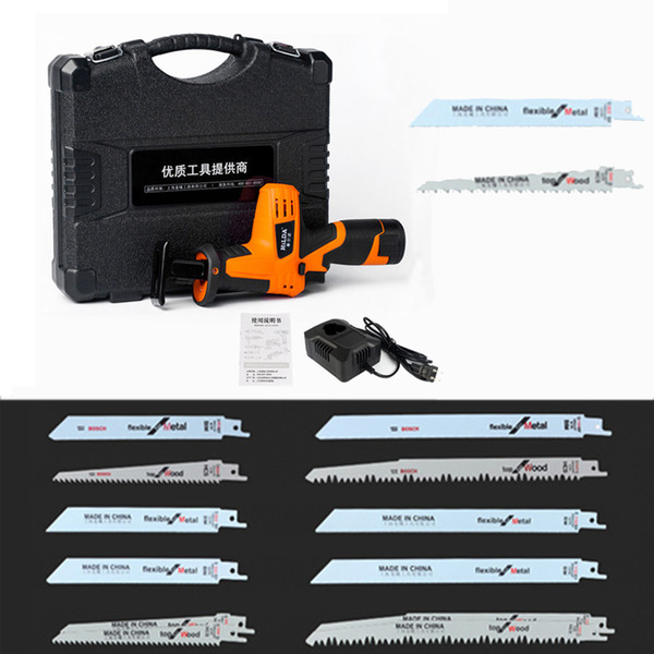 best selling DHL Free! 12V Cordless Reciprocating Saw Wood Cutting Saw Electric Saws With Saw Blades Woodworking Cutter