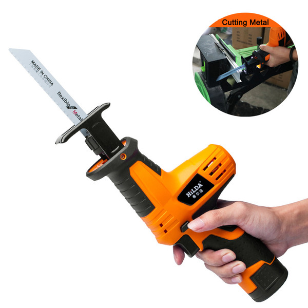 top popular DHL Free! 12V Cordless Reciprocating Saw Adjustable Speed Electric Saw Portable Electric Saw for Wood Metal Cutting 2021