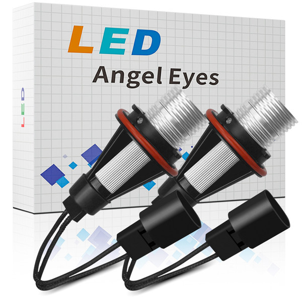 top popular E39 LED Marker Angel Eyes 2*5W 10W LED White Blue Red Yellow for E39 E53 E60 E61 E63 E64 2021