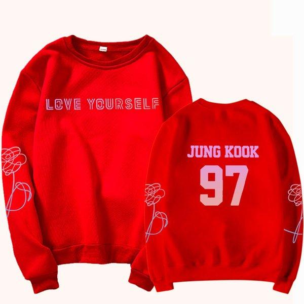 Sweat-shirt rouge 97