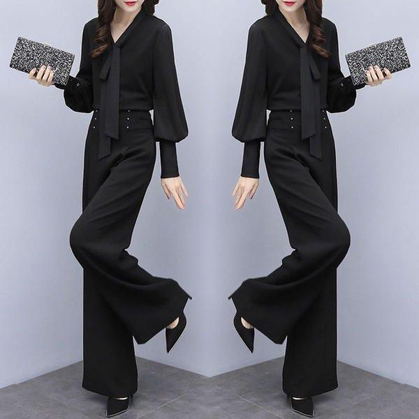 Nero Top + Pantaloni neri Un insieme