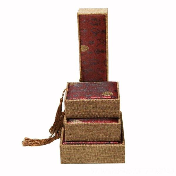 Cara vermelha Tassel-6x6 Caixa de Anel