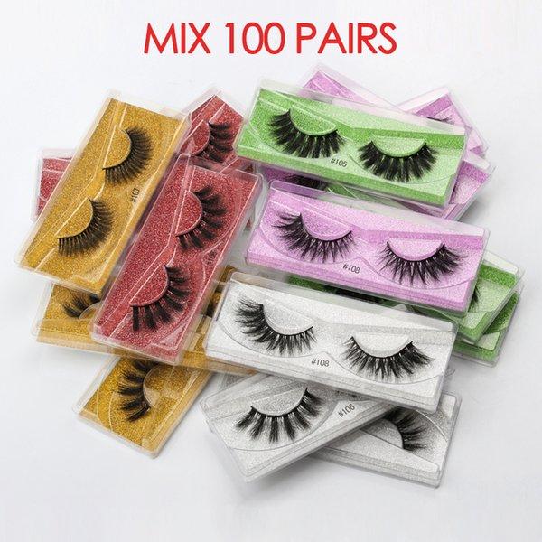 Lashes MIX 100 PAIRS