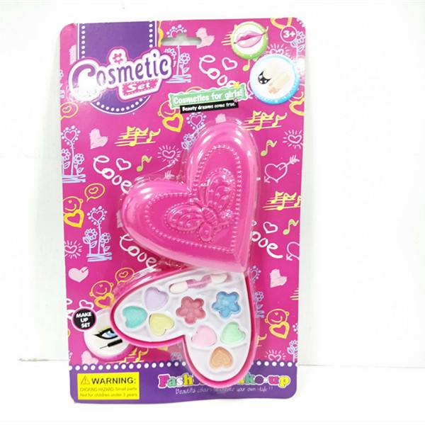 top popular Plastic folded heart shape 8 eyeshadow +1 applicator cosmetic wholesale makeup set for girls 5+ 2021