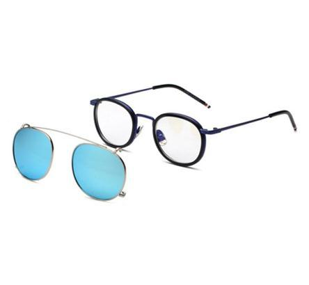 Blue frame blue lens