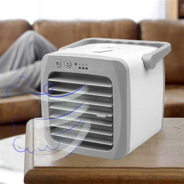 best selling Freeshipping Portable Mini Air Conditioner USB Conditioning Humidifier Purifier USB Desktop Air Cooler Fan Home Outdoor Dropship