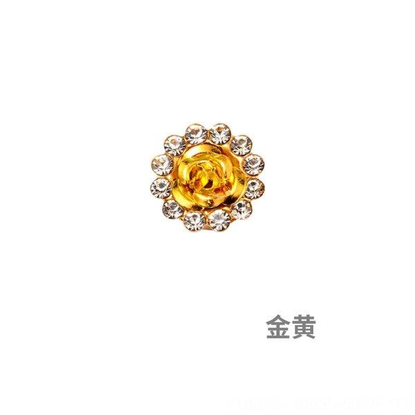 Ouro-13,8 milímetros (100 Piecesxpack) Duplo-l